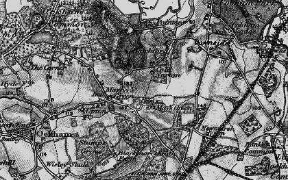 Old map of May's Green in 1896