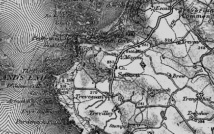 Old map of Mayon in 1895