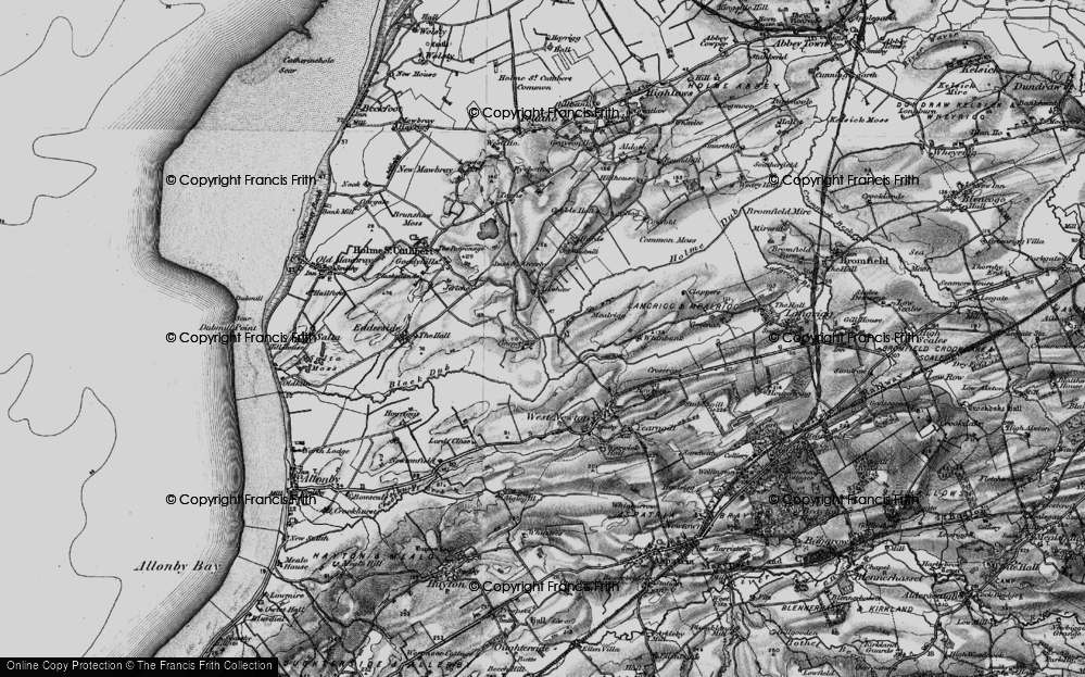Old Map of Historic Map covering Aikshaw in 1897