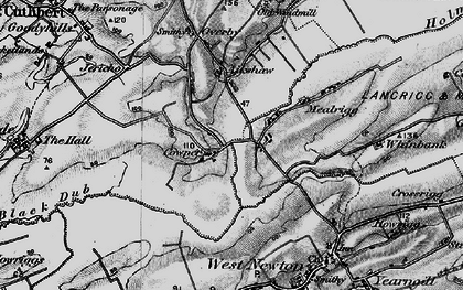 Old map of Aikshaw in 1897