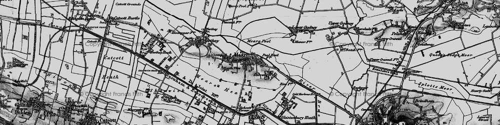 Old map of Meare in 1898