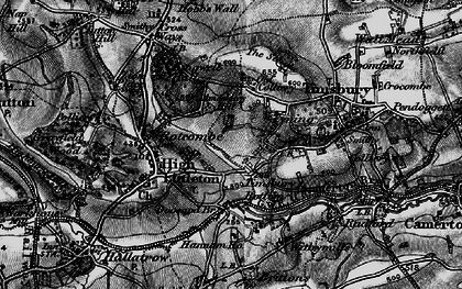 Old map of Timsbury Bottom in 1898