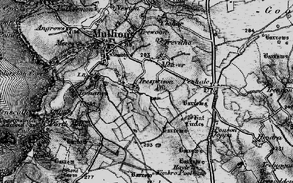 Old map of Meaver in 1895