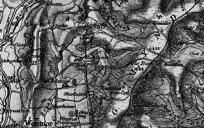 Old map of Adstone Hill in 1899