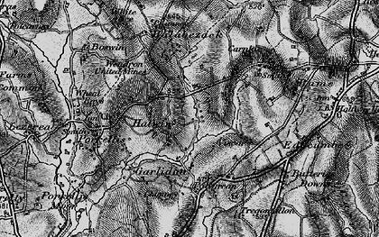 Old map of Medlyn in 1895