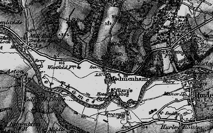 Old map of Medmenham in 1895