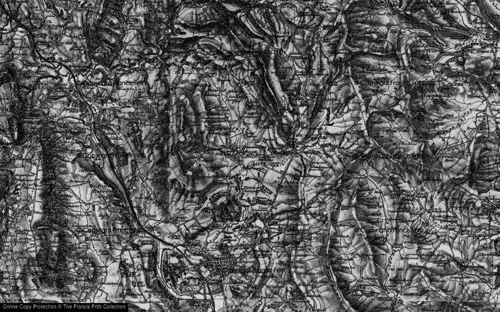 Old Map of Historic Map covering Alder Lee in 1897