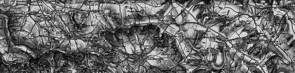 Old map of White Sheet Hill in 1898