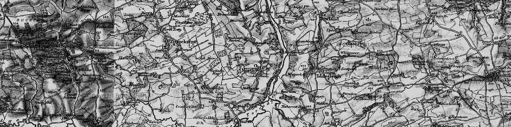 Old map of Woolladon in 1898