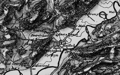 Old map of Meifod in 1897