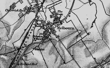 Old map of Melbourn in 1896