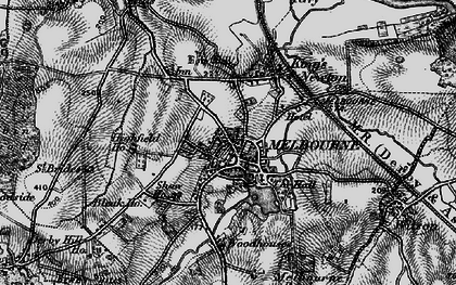 Old map of Woodhouses in 1895