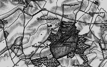 Old map of Woodleys in 1898