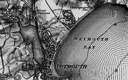 Old map of Weymouth Bay in 1897