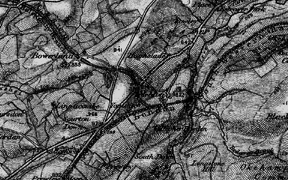 Old map of West Okement River in 1898