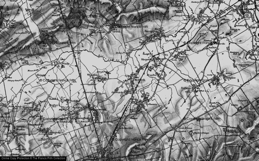 Old Map of Meldreth, 1896 in 1896