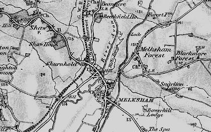 Old map of Melksham in 1898