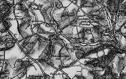 Old map of Mellangoose in 1895