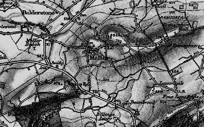 Old map of Mellor in 1896