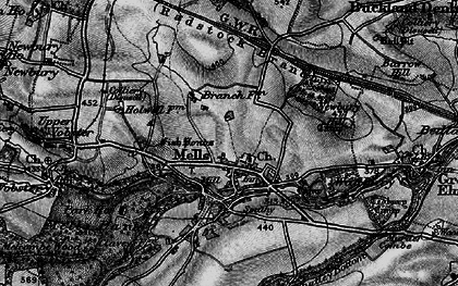 Old map of Mells in 1898