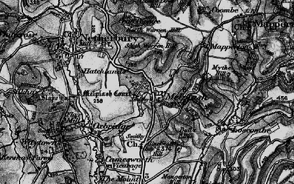 Old map of Melplash in 1898