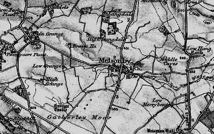 Old map of Melsonby in 1897