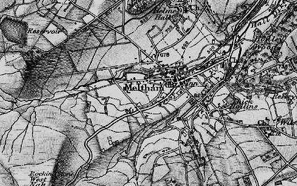 Old map of West Nab in 1896
