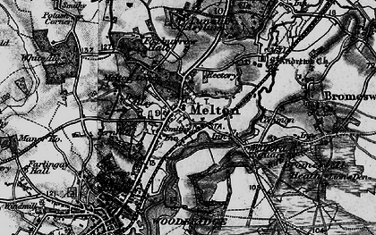 Old map of Melton in 1896