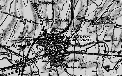 Old map of Melton Mowbray in 1899