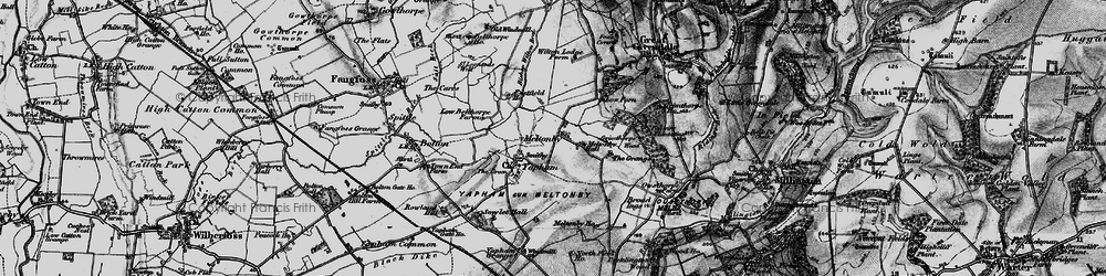 Old map of Wilton Lodge in 1898