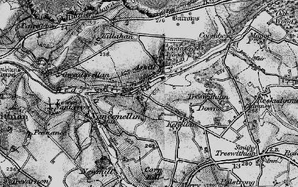 Old map of Menadarva in 1896