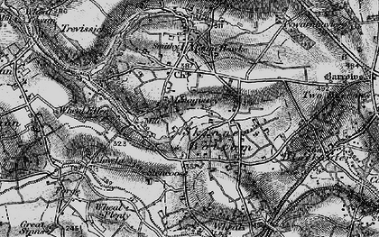 Old map of Menagissey in 1895