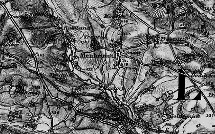 Old map of Menheniot in 1896