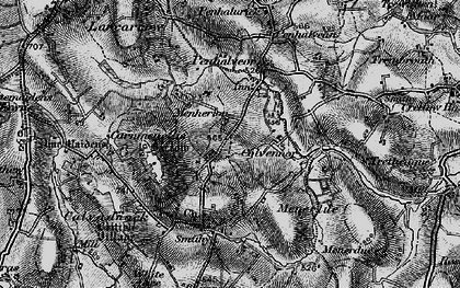Old map of Menherion in 1895