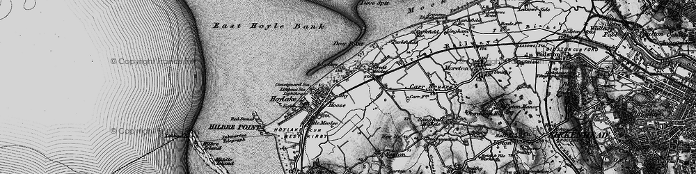 Old map of Meols in 1896