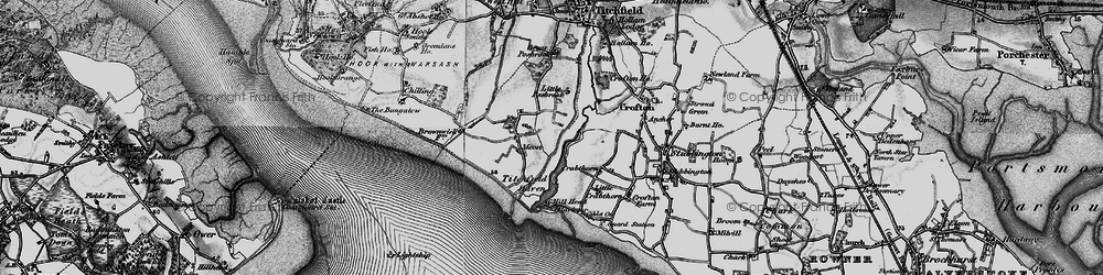 Old map of Titchfield Haven in 1895
