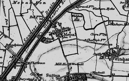 Old map of Widdens Hill in 1898