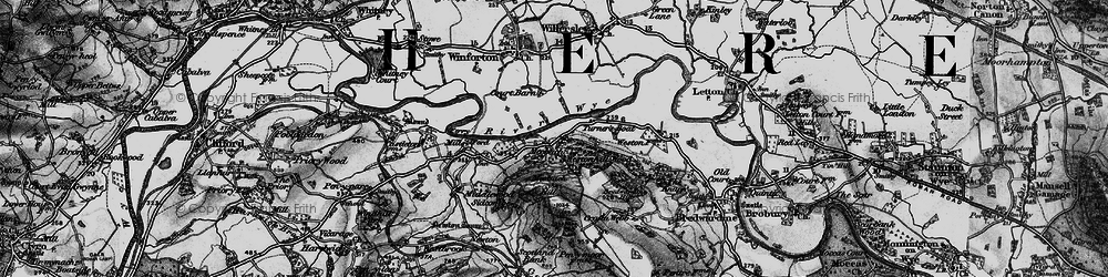 Old map of Westonhill Wood in 1896
