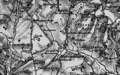 Old map of Mercaton in 1897