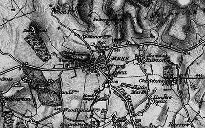 Old map of Mere in 1898