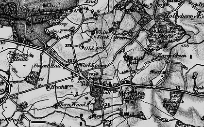 Old map of Meriden in 1899