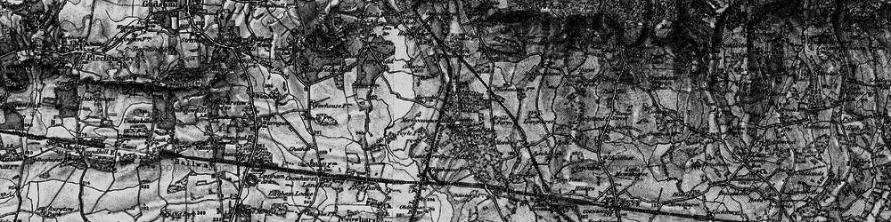 Old map of Merle Common in 1895