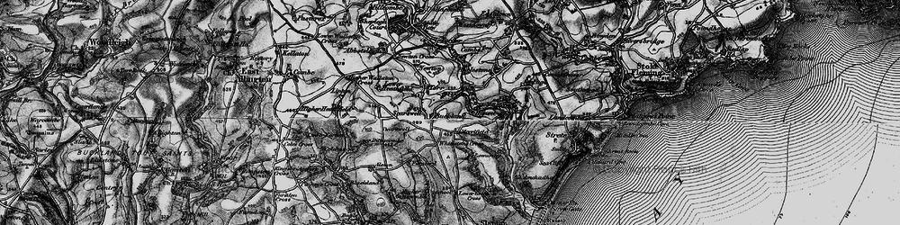Old map of Whitestone Cross in 1897