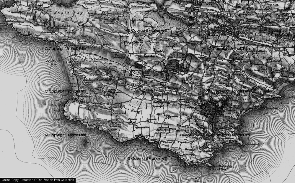 Old Map of Historic Map covering Axton Hill in 1898
