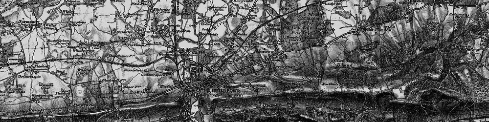 Old map of Merrow in 1896
