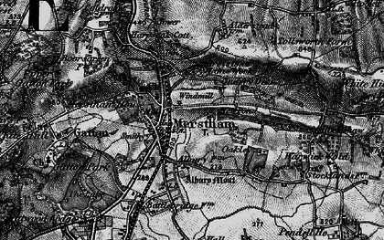 Old map of Merstham in 1895