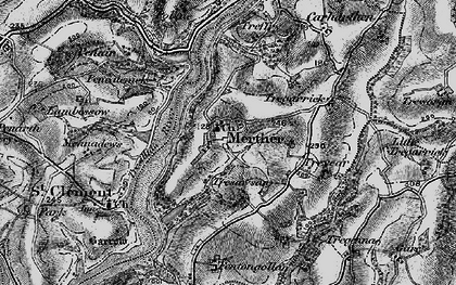 Old map of Merther in 1895
