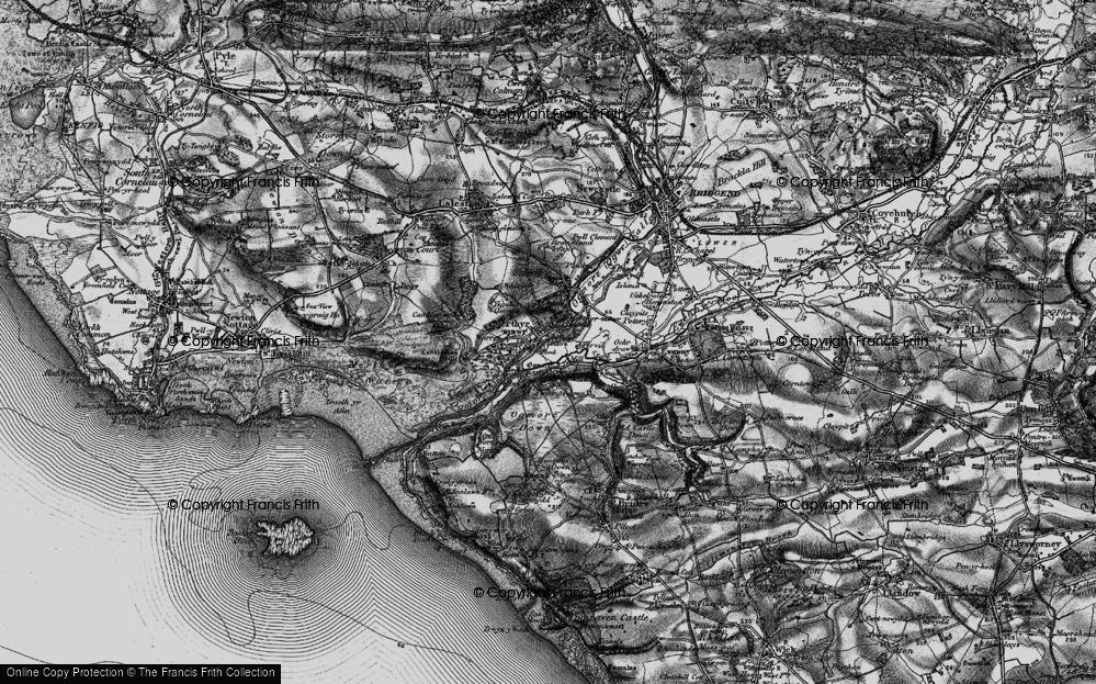 Old Map of Merthyr Mawr, 1897 in 1897
