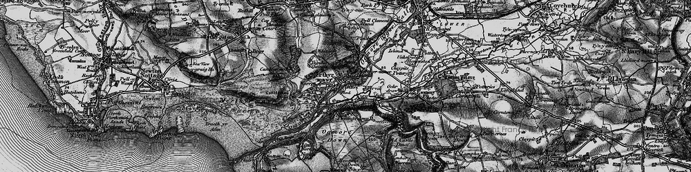 Old map of Merthyr Mawr in 1897