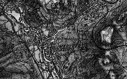 Old map of Merthyr Tydfil in 1898